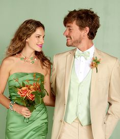 """Enter the """"Say 'I Do' to a Hue That's You"""" Sweeps for a chance to win 1 of 4 sets of gift cards: $500 to David's Bridal and $500 to @Mariah Nelson's Wearhouse Tuxedo for color coordinating your wedding on Pinterest! http://sweeps.piqora.com/sayido Rules: http://sweeps.piqora.com/fb/contest/content/davidsbridal.com/582/rules Ends 4/6/14. A tan wedding tuxedo serves as a lovely alternate to the classic black, grey, or white look, perfect for a casual affair!"""