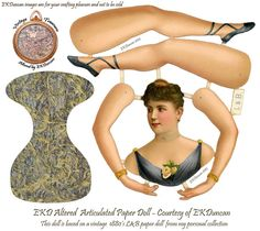 Altered Articulated paper doll