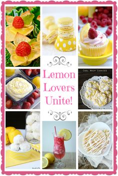 Lemon Lovers Unite! A round-up of lovely lemon recipes from Cooking on the Front Burner for Little Miss Celebration