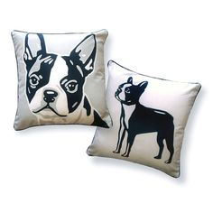 Boston Terrier 18x18 Gray by Naked Décor | Fab.com