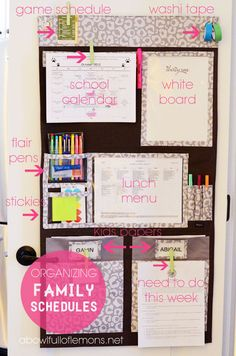 Hang Up Home Organizer. A great way to keep everyone organized!  www.mythirtyone.com/mom2boys