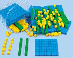 MATH: Math manipulatives such as Place Value Blocks are a good low tech AT tools for students who are visual learners and may have deficits in regrouping/ fraction skills. $29.99