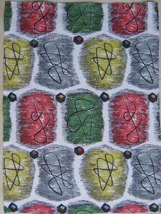 Vintage Barkcloth, 1950s vintage fabric