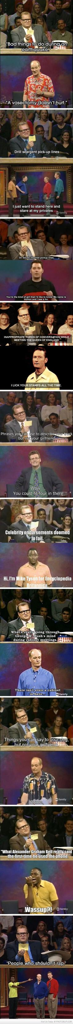 Whose Line Quotes. So funny!!