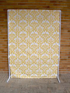 Yellow Damask Photo Booth Backdrop by FunOnAStick on Etsy