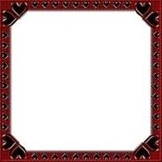 red and black heart frame