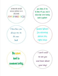 free school lunch note printable