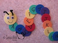 #Alphabet Caterpillar Busy Bag for #Children - make these with felt or cardstocks! (pinned by Super Simple Songs) #educational #resources