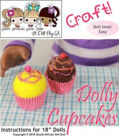Make dolly cupcakes with this quick and easy craft from Dollplay SA