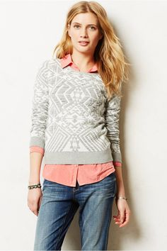 I'm in love withthis pretty jacquard Pullover