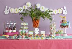 easter party!  carrot centerpiece - cute!
