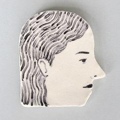 ceramic profile by RachelLevit on Etsy, $30.00