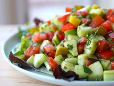Israeli Salad with Pickles and Mint | The Shiksa Blog
