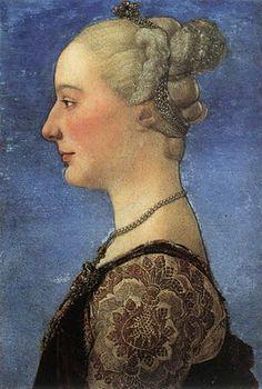Antonio del Pollaiuolo. Portrait of a Young Woman, c.1475 Portraits of  Women in Italian Renaissance Painting #TuscanyAgriturismoGiratola