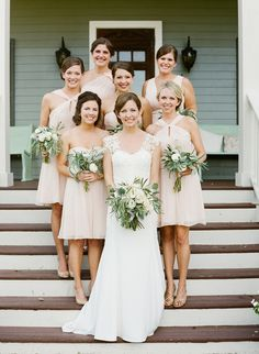 2014 Wedding Trends | Blush & Nude Tones | Nude Bridesmaid Dresses