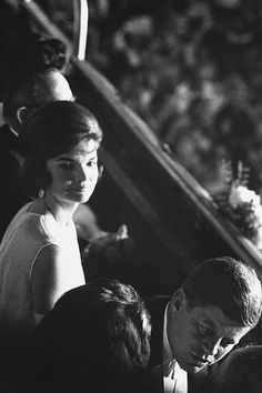 Jacqueline Kennedy & John F. Kennedy at the inauguration, 1960.
