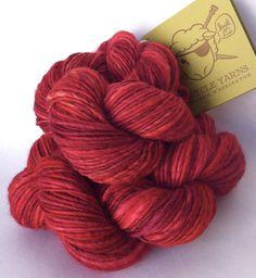 Devilish Grin - worsted weight handspun yarn