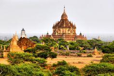travel spot, breathtak landscap, bagan myanmar, list, templ