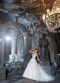 Justin Alexander wedding dress style 8670 is featured in Panna Mloda magazine. #weddin #weddingdress #beading #sparkle