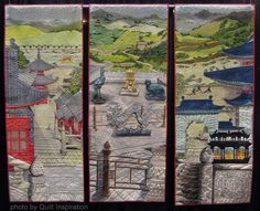 Chinese Journey in Three Parts by Stephanie Crawford, United Kingdom.  Best of World award, 2014 PIQF, photo by Quilt Inspiration