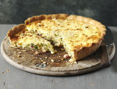 Try our smoked bacon, leek and roast garlic quiche for a summer lunch.