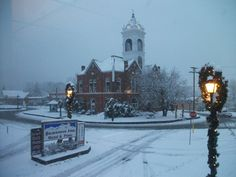 Blairsville, GA old courthouse square