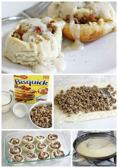 Biscuit & Gravy Breakfast rolls