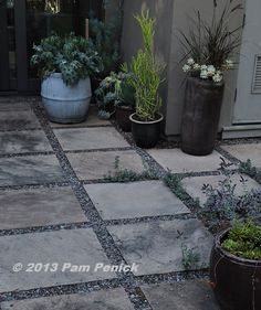 pavers and gravel