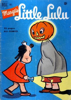 Little Lulu vintage comic book Halloween
