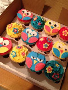 Owl cupcakes @Sasha Hatherly Hatherly Hatherly Hatherly Hatherly Redmond owl cookies cake cupcake party birthday kid kids boys girls 1 2 3