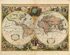 Two Parts of the Globe-World Map (#39-006) < Auctions < Archaeological Center