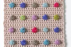 dot crochet, polka dots, crochet bobbl, jan eaton, con foto