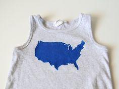 DIY: Patriotic USA Tee Shirt - Momtastic