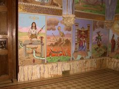 Tarot paintings from a chapel in France. #tarot