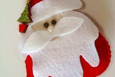 Papai Noel delicado feito com feltro passo a passo