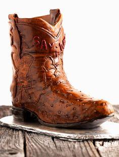 Cowboy Boot Cake craft