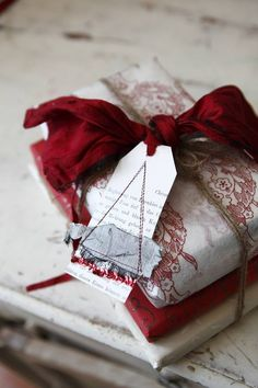 Wrapped in Red Toile
