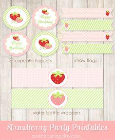 Free Strawberry Party Printable