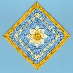 Ravelry: Morning Star by gemess - free pattern by Kris Kelln: http://www.ravelry.com/patterns/library/morning-star-4 - Teresa Restegui http://www.pinterest.com/teretegui/ ✔