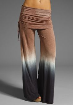 YOUNG, FABULOUS & BROKE Sierra Pant in Coffee/Black at Revolve Clothing #ombre