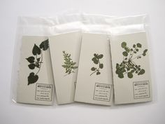 "invite announcement cards for an exhibition of ""Tools for Weeds"" // Ryoko Nagaoka 長岡綾子"