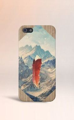 Feather in the Mountains Case for iPhone 5 iPhone 5S