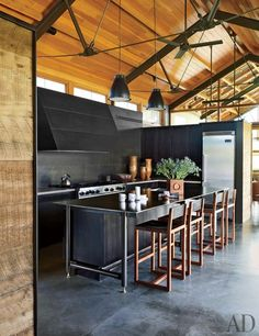 Modern Montana prairie home by Lake/Flato Architects and designer Madeline Stuart. Architectural Digest.