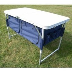 Folding camping table with storage :-)
