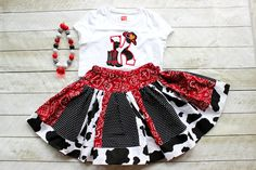 Liv's farm bday outfit -cowgirl outfit birthday cowgirl outfit cowboy set rodeo outfit rodeo skirt set cowgirl skirt set cowboy boot cowboy hat shirt toddler cow