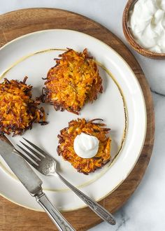 Sweet Potato, Turnip and Parsnip Latkes   www.kitchenconfidante.com