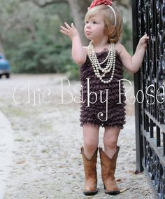 Pearls and Cowboy Boots. Too cute!!