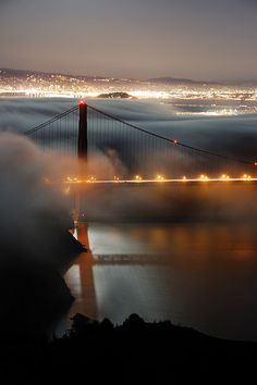 North tower revealed, Golden Gate Bridge, San Francisco