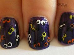 Halloween nail art spooki eye, halloween fun, nail arts, beauti, halloweennail, eye nail, halloween nail art, eyes, halloween nails