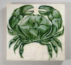 William De Morgan 'Crab'  tile